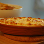 Hot Onion Souffle and Pita Chips