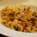 Truffled Macaroni and Cheese with Prosciutto, Leeks, and Mushrooms