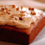 Applesauce Spice Cake with Cinnamon Cream Cheese Frosting