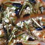 Asparagus, Fingerling Potato, and Goat Cheese Pizza