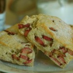 Rhubarb and Vanilla Sugar Scones
