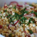 Corn and Radish Salad with Jalapeno Lime Dressing