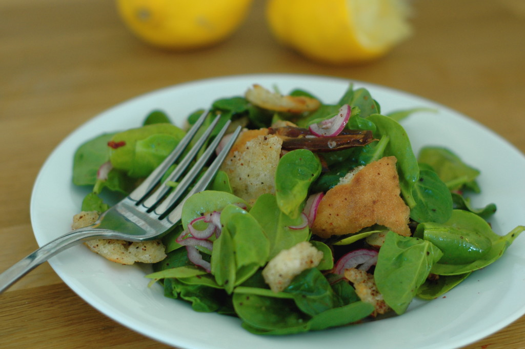 Baby Spinach Salad with Dates and Almonds