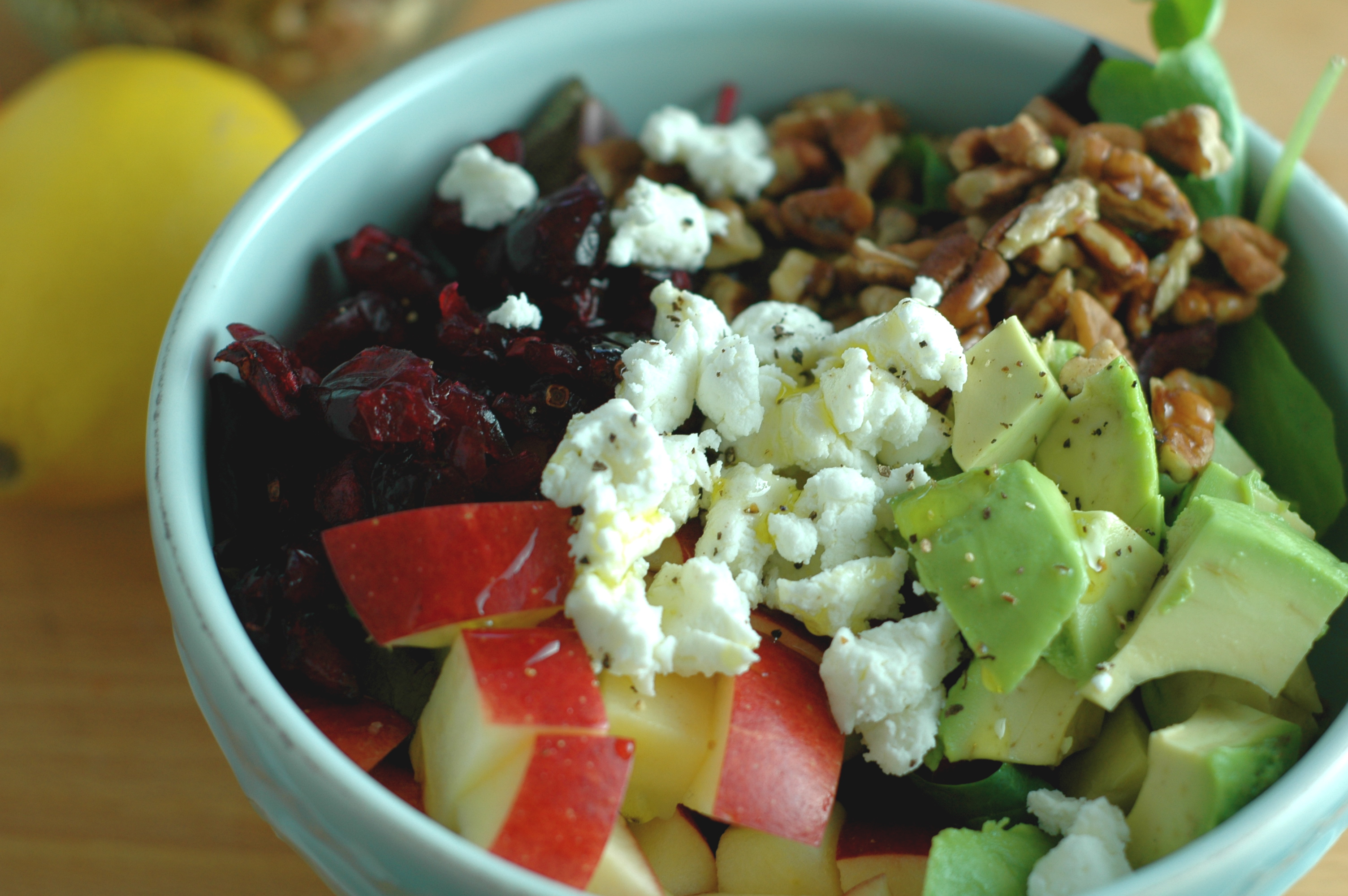 Apple, Goat Cheese, and Pecan Salad