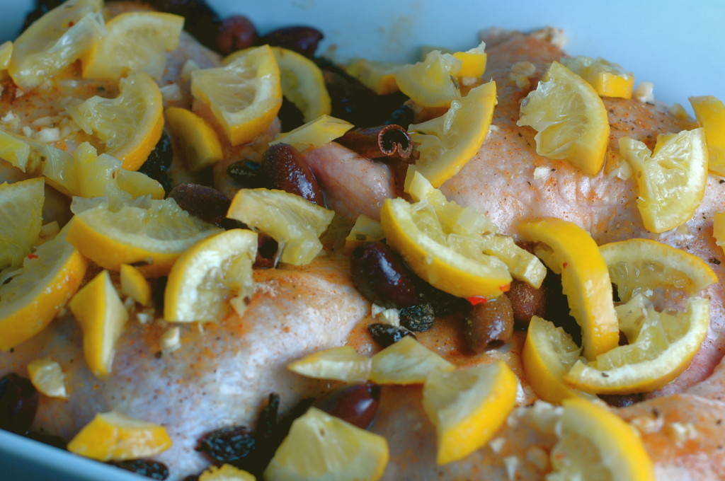 Moroccan Chicken with Lemon and Olives