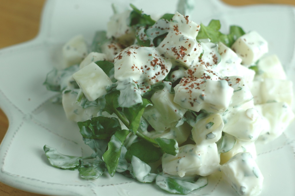 Kohlrabi and Watercress Salad
