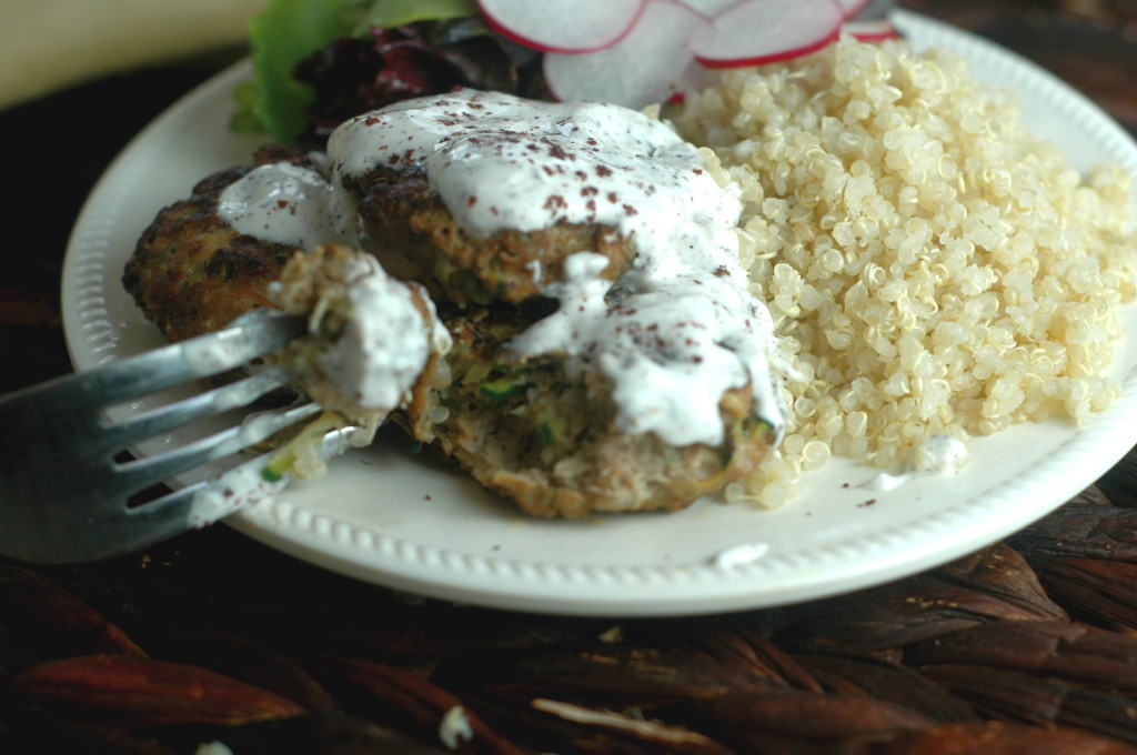 Chicken and Turkey Burgers with Green Onion and Cumin