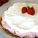 Strawberry Ice Cream Pie with Pretzel Crust
