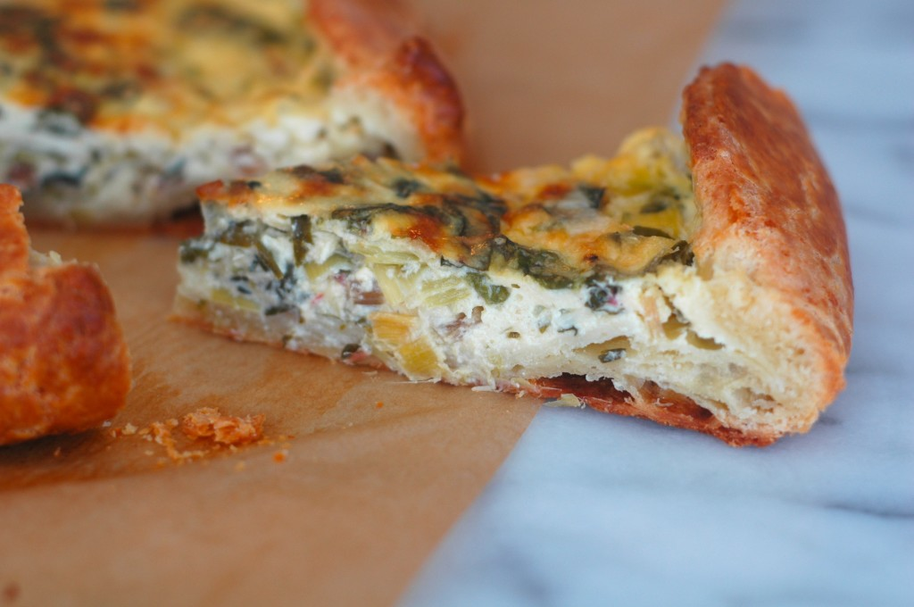 Swiss Chard, Leek, and Ricotta Crostata