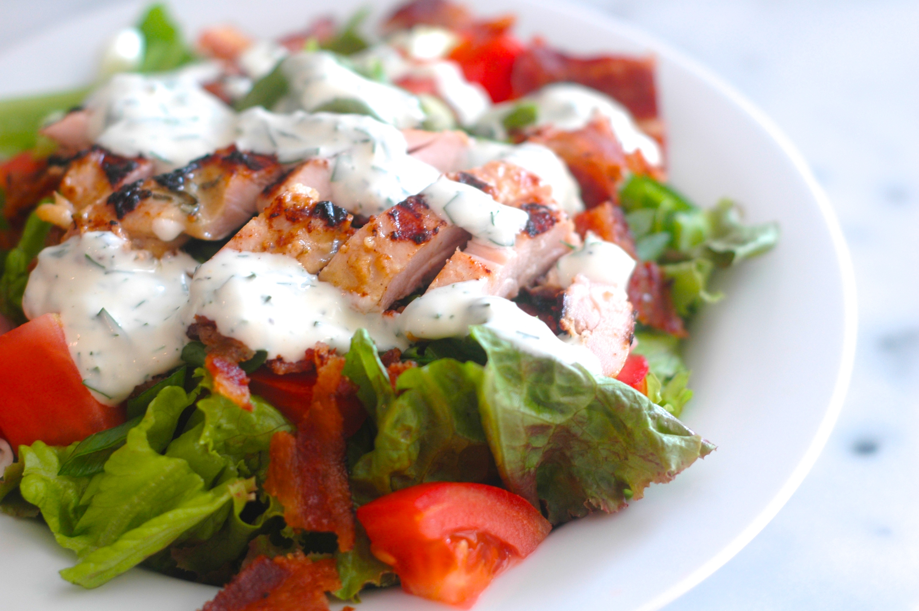 BLT Chicken Salad Recipe — Dishmaps