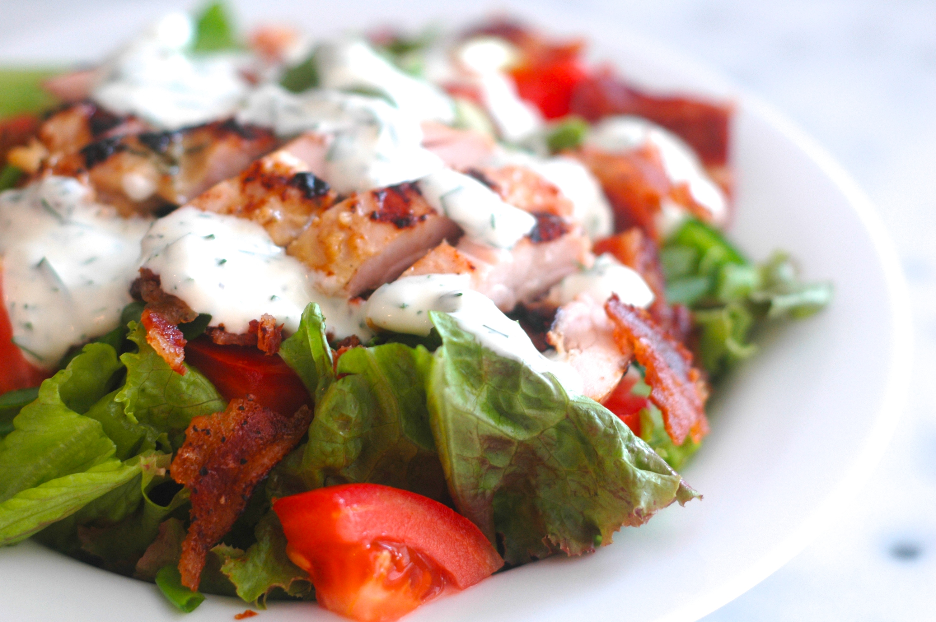 Chicken BLT Salad with Fresh Ranch Dressing - but i'm hungry