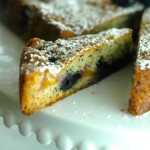 Nectarine and Blueberry Poppyseed Cake