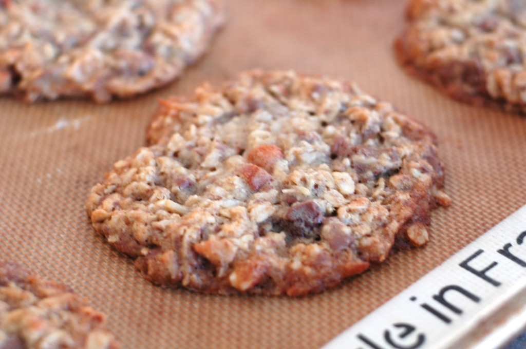 Oatmeal Chocolate Chunk Cookies with Coconut and Almonds