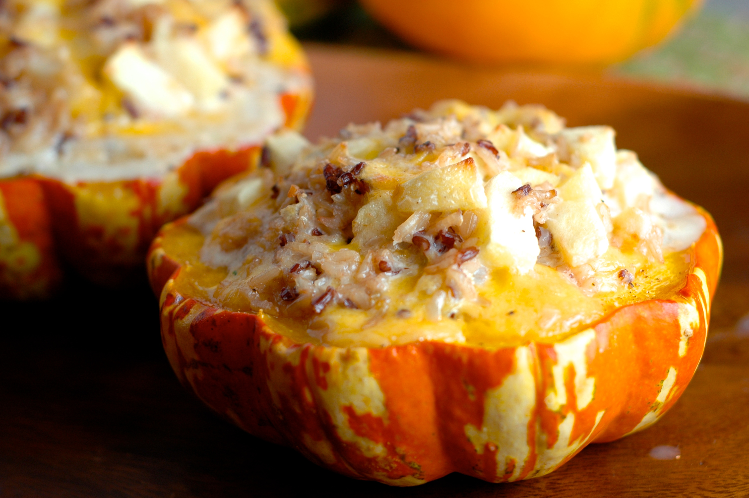 Turkey Stuffed Carnival Squash Recipes — Dishmaps