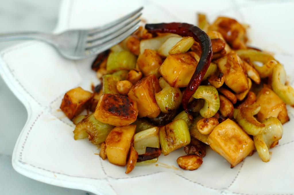 Celery, Tofu, and Peanut Stir-Fry