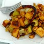 Spicy-Sweet Celery, Tofu, and Peanut Stir-Fry