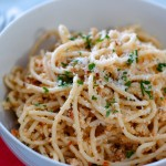 Spaghetti with Cauliflower Pesto