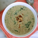 Mushroom, Spinach, and Walnut Soup