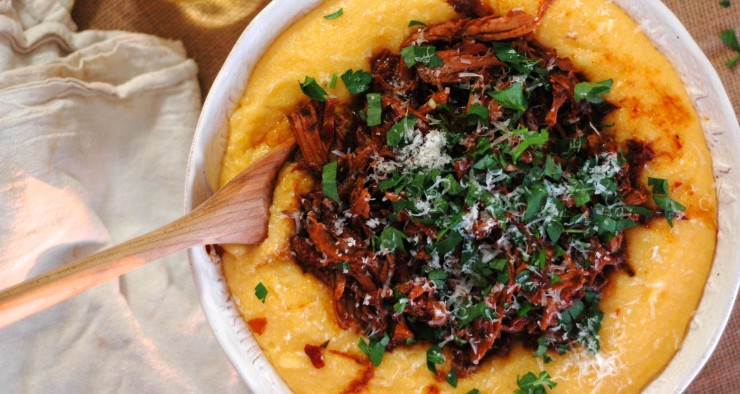 Pork Ragu over Creamy Polenta