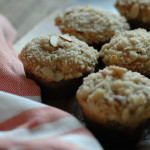 Rhubarb Muffins with Almond Streusel