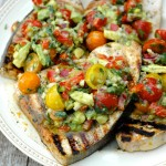 Marinated Swordfish with Avocado Salsa