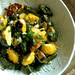 Roasted Pattypan Squash with Herbs and Feta
