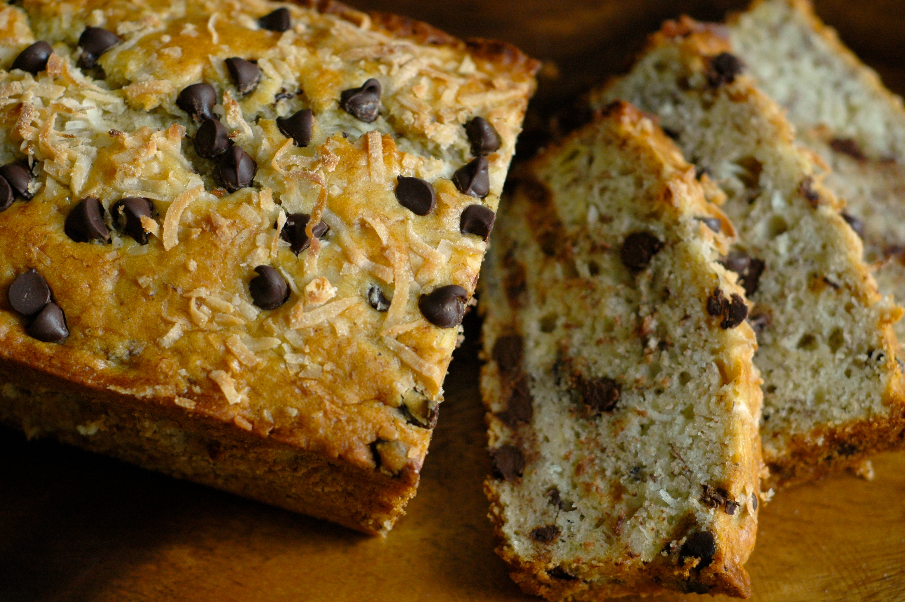 Coconut Chocolate Chip Banana Bread - but i'm hungry